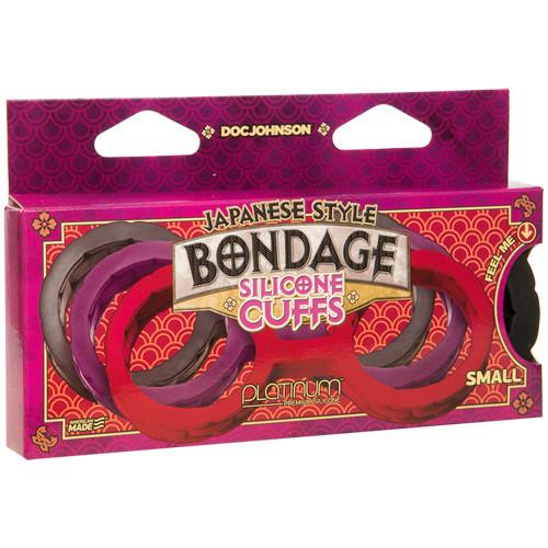 Japanese Bondage Silicone Handcuffs - Black