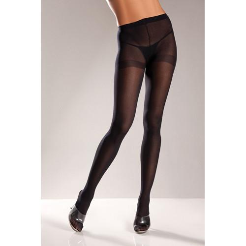 Basic Opaque Pantyhose - Black