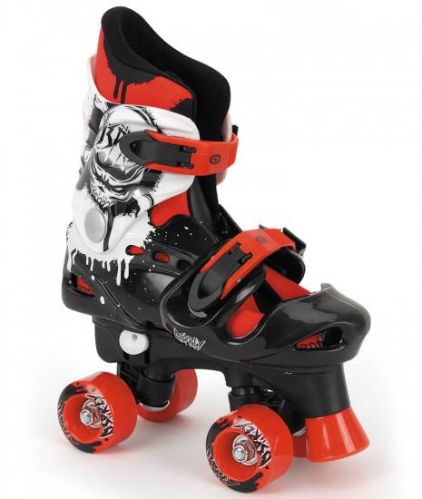 Roller Skates Adjustable Boys Black Mt 36-38