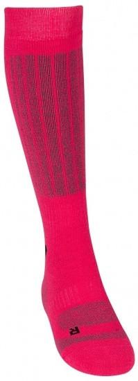 Ski Socks Ladies Fuchsia / Gray Per Pair Size 31/34