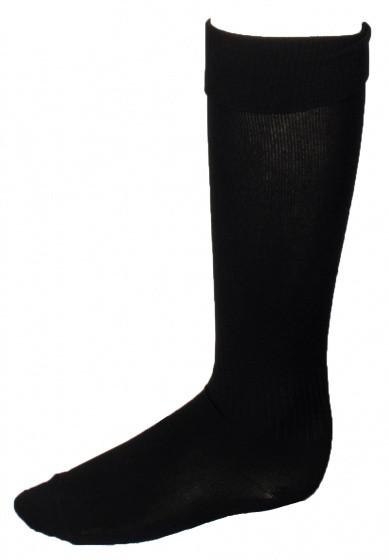 Soccer Socks Unisex Black Size 30/34
