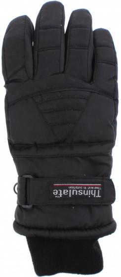 Ski Gloves Ladies Polyester Black Size L