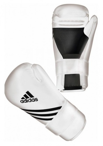 Boxing Gloves Semi Contact White Size L