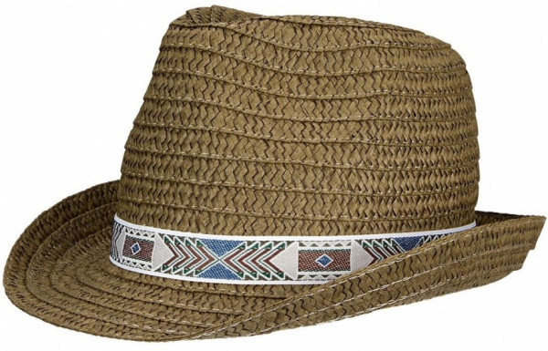 Straw Hat Janeiro Junior Brown Size 50 cm