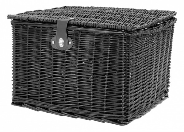 Bicycle Basket Willow Front 46.5 Litres Black