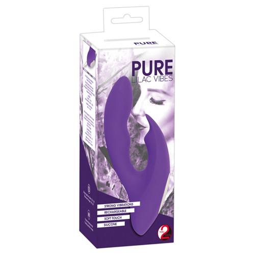 Pure lilac vibes rabbitvibrator mit zwei motoren