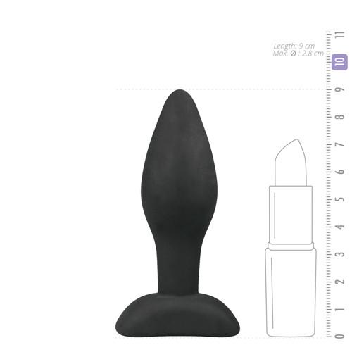 Small Black Silicone Buttplug