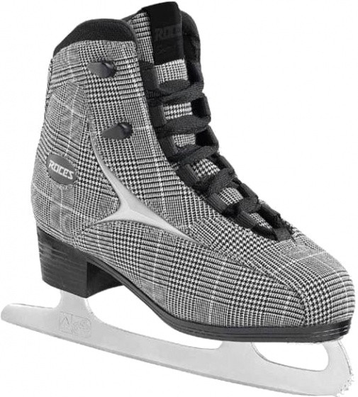 Figure Skating British Check Ladies Black / White Size 42