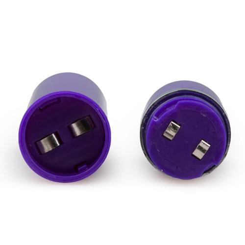 Doppelter realistischer vibrator - lila
