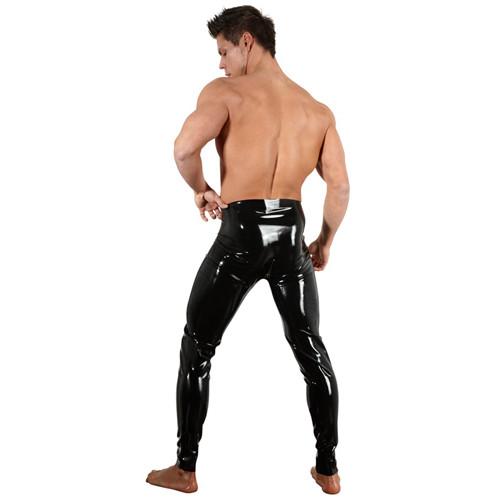 Latex Leggings With Zipper