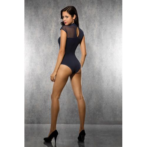 Ladies Body with Mesh Fabric - Dark Blue