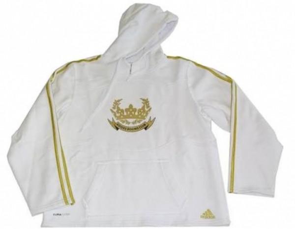 Sportsweater Hoody Polycotton White Size S