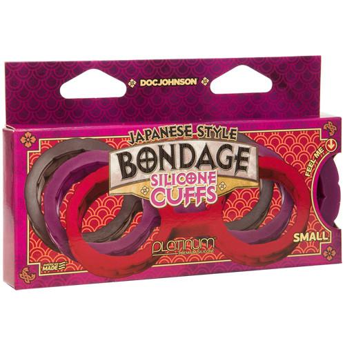 Japanese Bondage Silicone Handcuffs - Purple