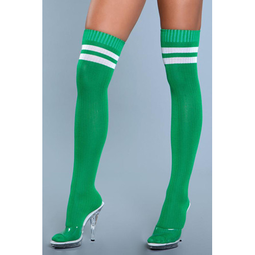 Going Pro Thigh High Stockings - Green