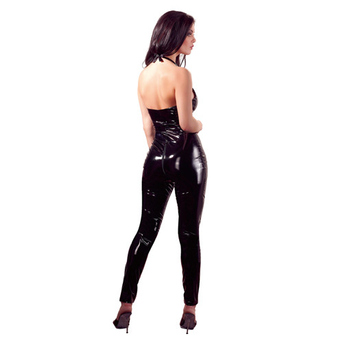 Vinyl Catsuit With Open Crotch