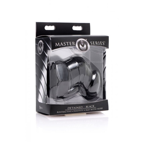 Detained - Black Restrictive Chastity Cage