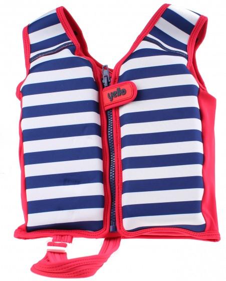 Kids Float Life Jacket Junior Dark Blue / White 1-2 Years