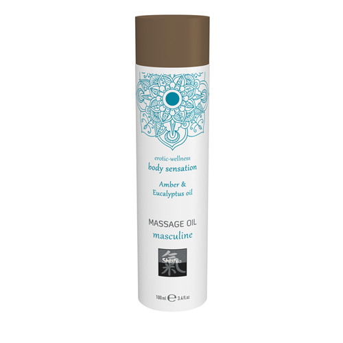 Massage Oil Masculine - Amber & Eucalyptus