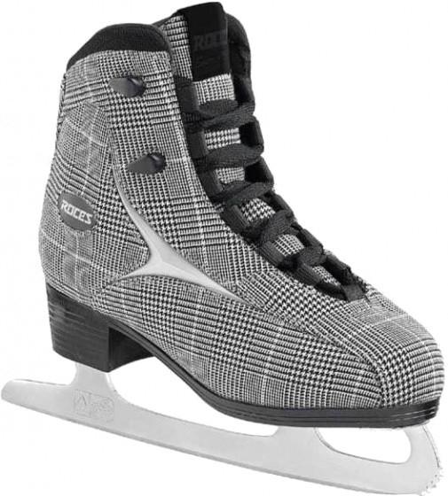 Figure Skating British Check Ladies Black / White Size 39