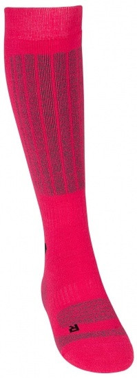 Ski Socks Ladies Fuchsia / Gray Per Two Pairs Size 31/34
