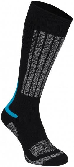 Ski Socks Fernie Junior Black / Blue Per 2 Pairs Mt 27/30