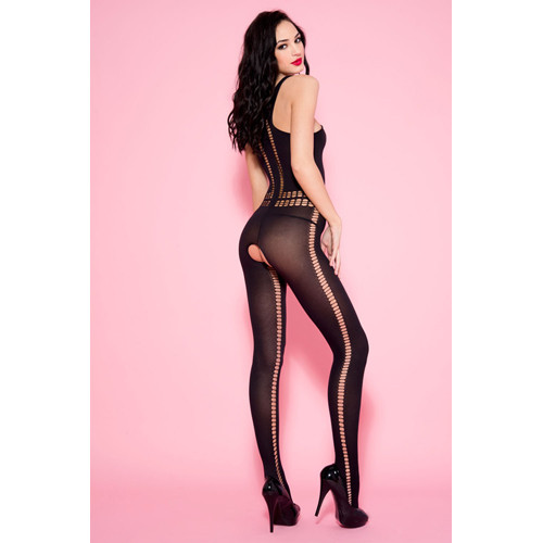 Opaque Catsuit With Cut-Outs