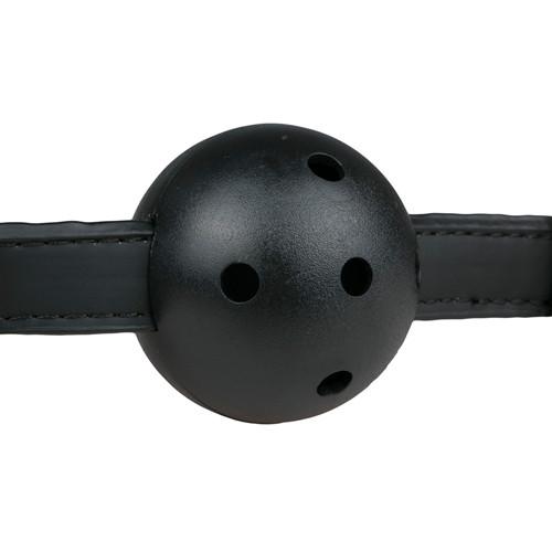 Ball Gag With PVC Ball - Black
