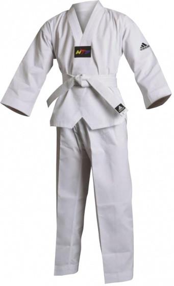Taekwondo Adi-Start Dobok Unisex White Size 160