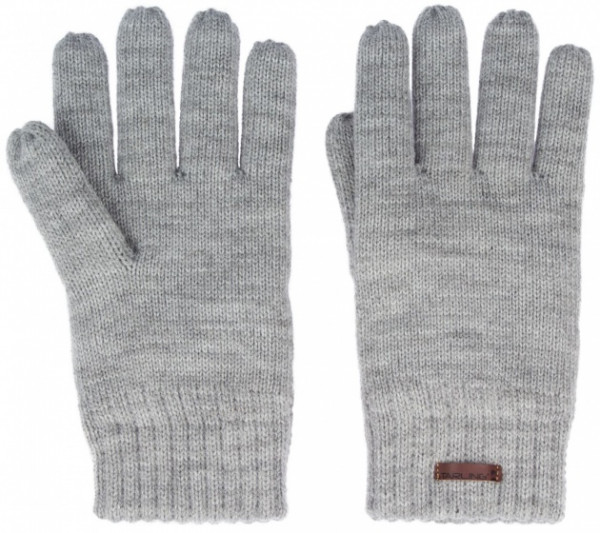 Lined Gloves Knitted Size L Gray