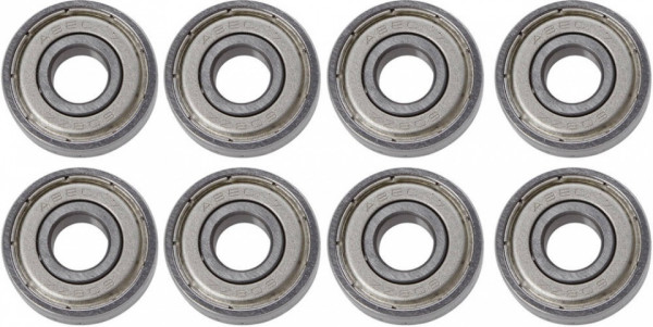 Abec 5 Bearings Silver 8 Pieces