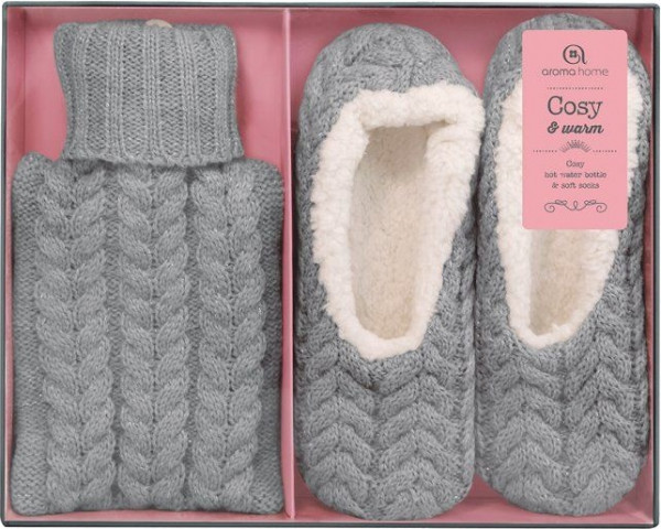 Sofaset With Slippers And Jug Ladies Gray Size 37-41