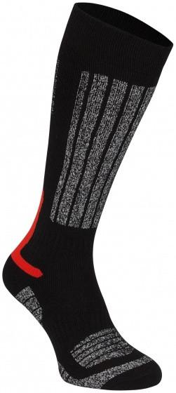 Ski Socks Fernie Junior Black / Red Per 2 Pairs Size 23/26
