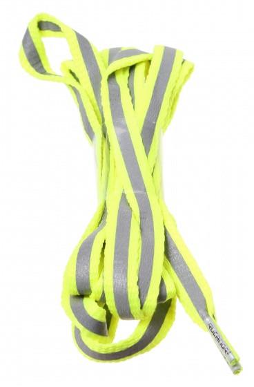 Shoe Laces Flat Fluorescent Reflection Yellow + 130 cm