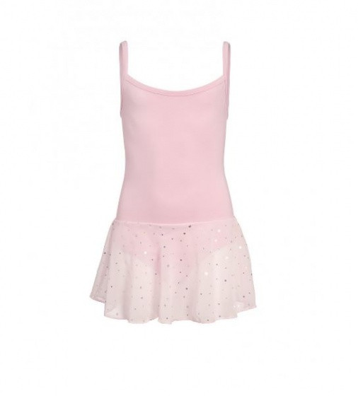 Ballet Suit Spaghetti Strap With Glitter Pink Size 128
