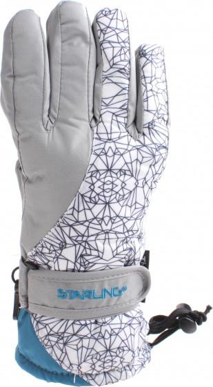Ski Gloves Taslan Mirre Jr Gray / White Size 6/164