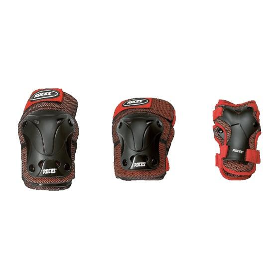 Protective Set 3-Piece Junior Black / Red Size M