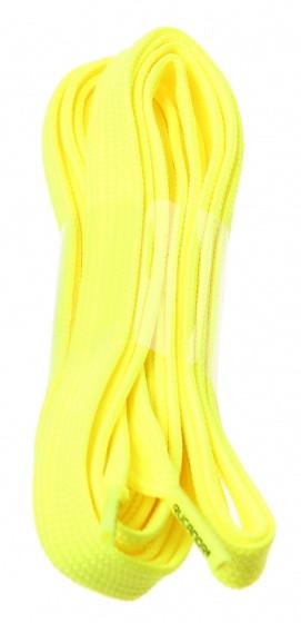 Shoe Laces Flat Fluorescent Yellow 130 cm