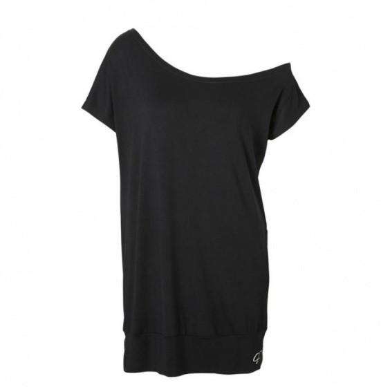 Off-Shoulder Sport Shirt Black Size S