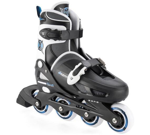 Inline Skates Quad Black / Blue Junior Size 30-34