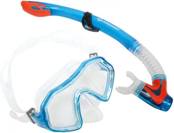 Snorkel Set Barbados Junior Blue 2-Piece