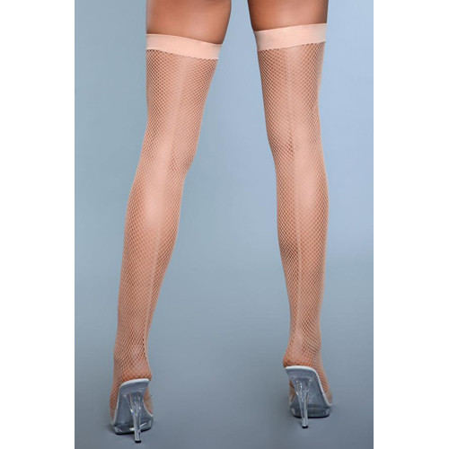 Great Catch Fishnet Stockings With Seam - Skin Color
