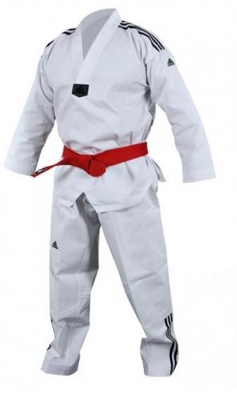 Taekwondo Adi-Club 3 Dobok Unisex White Size 140