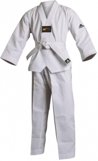 Taekwondo Adi-Start Dobok Unisex White Size 190