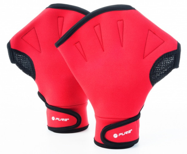 Swimming Gloves Unisex Red Size M