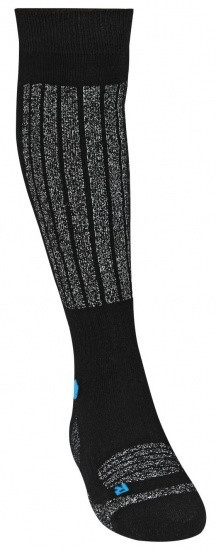 Ski Socks Ladies Black/Grey/Blue Per Pair Mt 39/42