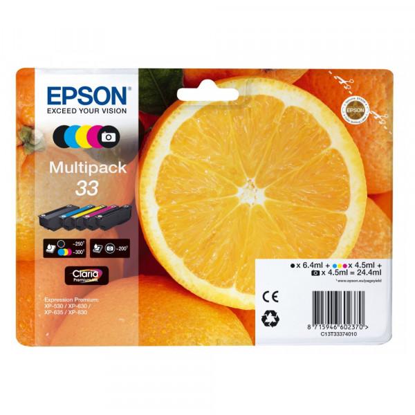Tinte Epson C13t33374011 cmyk + Photo Black