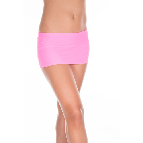 Plain mini skirt NEONPINK