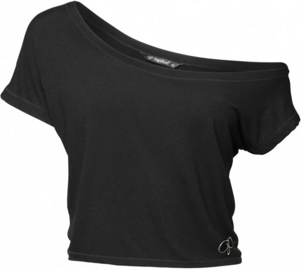 Off-Shoulder Sport Shirt Short Black Size S