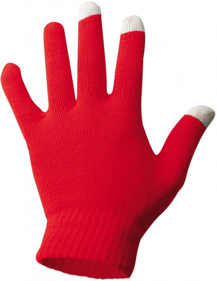 Gloves Acrylic Red Size L/Xl
