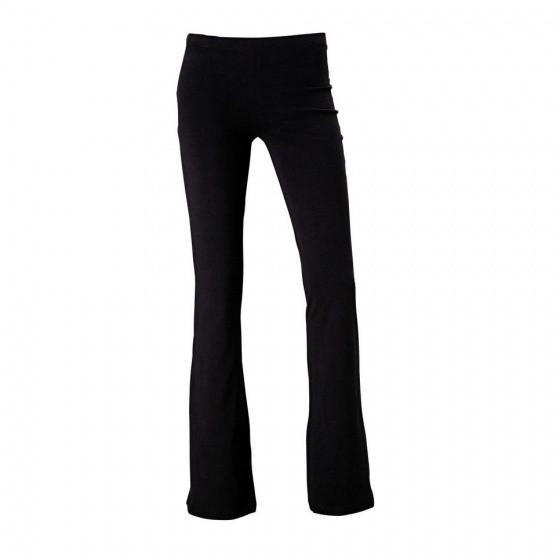 Sports Fitting Jazz Wide Leg Black Ladies Size S